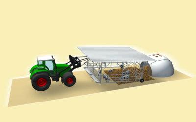 kalveriglo met tractor